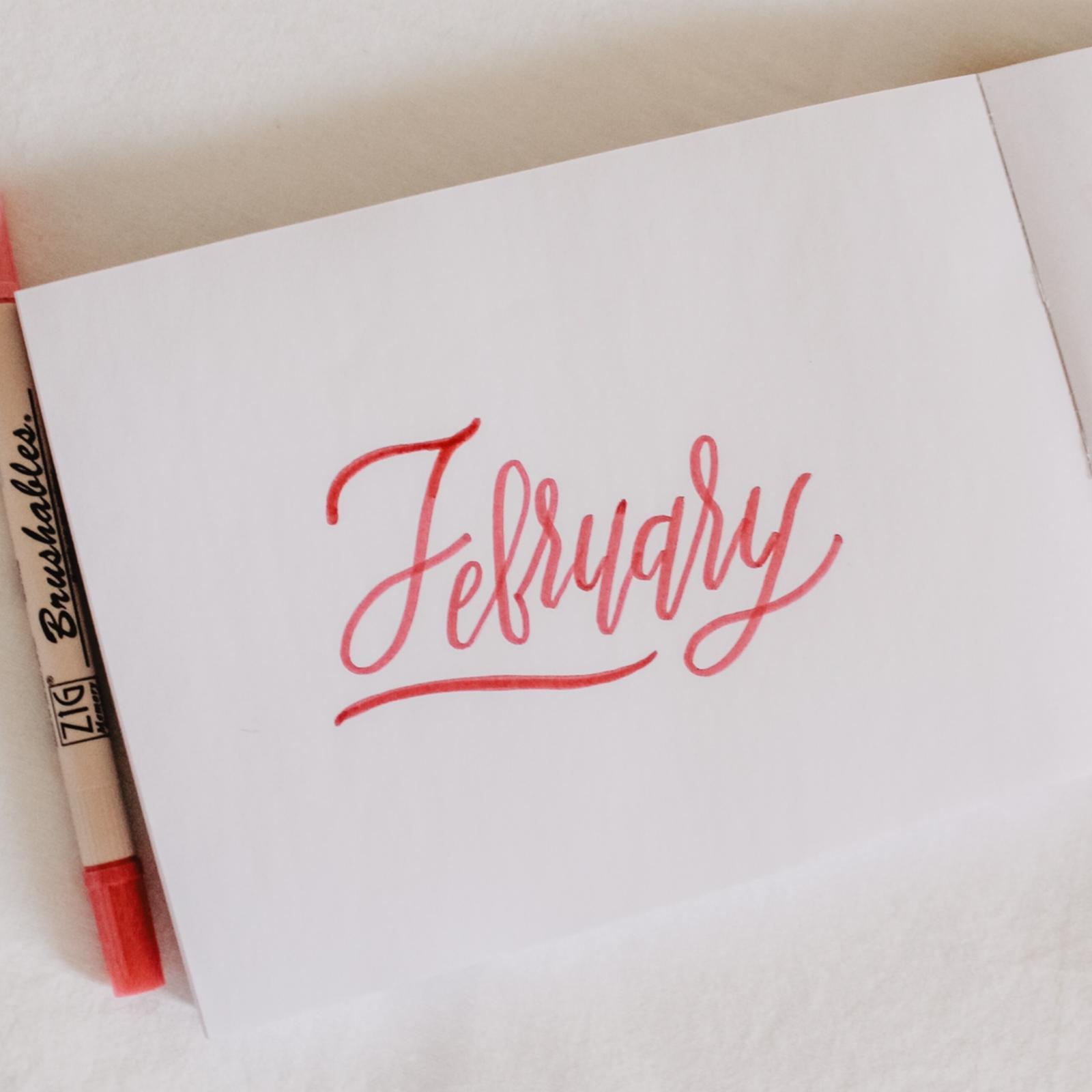 February 2020 meeting: Calligraphy